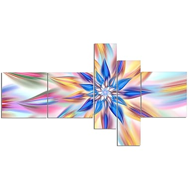 East Urban Home 'Exotic Dance of Multi Color Petals' Graphic Art Print Multi-Piece Image on Canvas