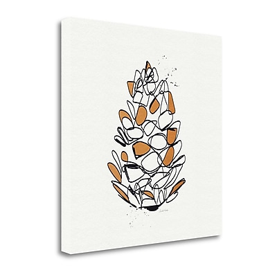 Tangletown Fine Art 'Pine Cone' Graphic Art Print on Canvas; 20'' H x 20'' W