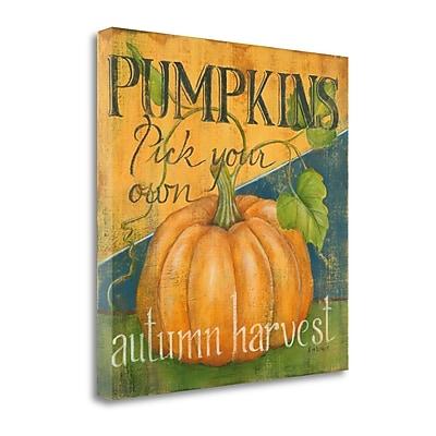 Tangletown Fine Art 'Pick Your Pumpkins' Vintage Advertisement on Canvas; 29'' H x 29'' W