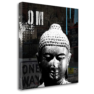 Tangletown Fine Art 'Urban Buddha I' Graphic Art Print on Canvas; 20'' H x 20'' W