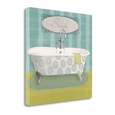 Tangletown Fine Art 'Polka Tub II' Graphic Art Print on Canvas; 20'' H x 20'' W
