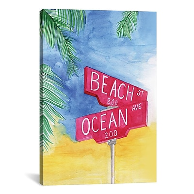 East Urban Home Beach Avenue Painting Print on Wrapped Canvas; 26'' H x 18'' W x 0.75'' D
