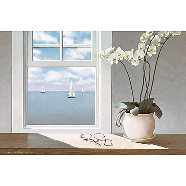 East Urban Home Orchid Photographic Print on Wrapped Canvas; 8'' H x 12'' W x 0.75'' D