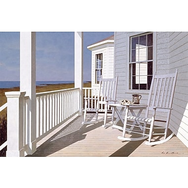 East Urban Home Porch I Photographic Print on Wrapped Canvas; 18'' H x 26'' W x 0.75'' D
