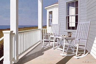 East Urban Home Porch I Photographic Print on Wrapped Canvas; 12'' H x 18'' W x 1.5'' D