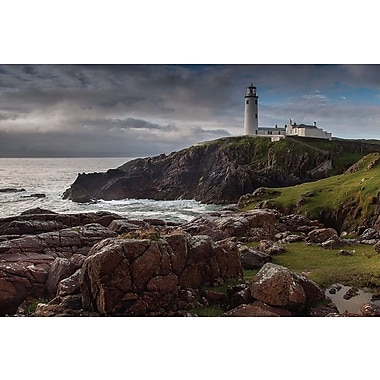 East Urban Home Lighthouse Photographic Print on Wrapped Canvas; 18'' H x 26'' W x 1.5'' D