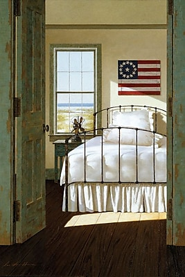 East Urban Home Beach House Bedroom Painting Print on Wrapped Canvas; 18'' H x 12'' W x 0.75'' D