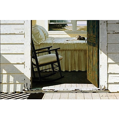 East Urban Home Beach House Cat Painting Print on Wrapped Canvas; 18'' H x 26'' W x 1.5'' D