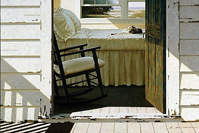 East Urban Home Beach House Cat Painting Print on Wrapped Canvas; 18'' H x 26'' W x 0.75'' D