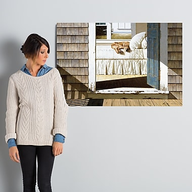 East Urban Home Beach House Dog Painting Print on Wrapped Canvas; 26'' H x 40'' W x 0.75'' D