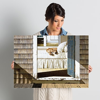 East Urban Home Beach House Dog Painting Print on Wrapped Canvas; 18'' H x 26'' W x 0.75'' D