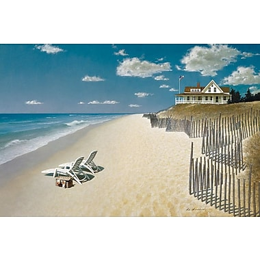 East Urban Home Beach House View I Painting Print on Wrapped Canvas; 26'' H x 40'' W x 1.5'' D