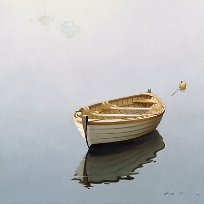 East Urban Home Boat Shadow Photographic Print on Wrapped Canvas; 26'' H x 26'' W x 0.75'' D