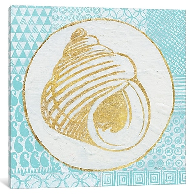 East Urban Home Summer Shells III Graphic Art on Wrapped Canvas; 12'' H x 12'' W x 0.75'' D