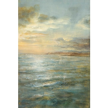 East Urban Home Serene Sea III Painting Print on Wrapped Canvas; 60'' H x 40'' W x 1.5'' D