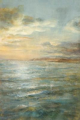 East Urban Home Serene Sea III Painting Print on Wrapped Canvas; 18'' H x 12'' W x 0.75'' D