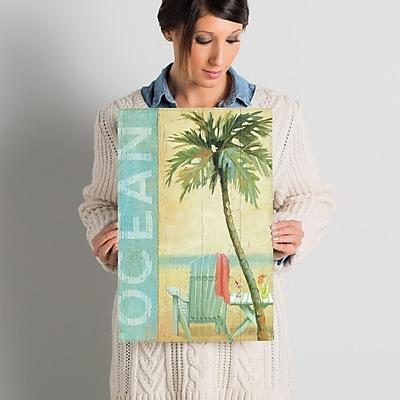 East Urban Home Ocean Beach II Graphic Art on Wrapped Canvas; 18'' H x 12'' W x 0.75'' D