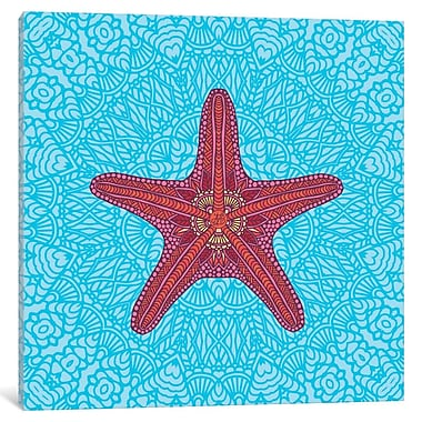 East Urban Home Starfish Graphic Art on Wrapped Canvas; 18'' H x 18'' W x 0.75'' D