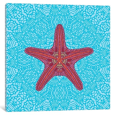East Urban Home Starfish Graphic Art on Wrapped Canvas; 37'' H x 37'' W x 1.5'' D