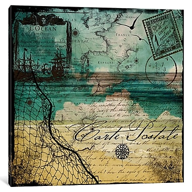 East Urban Home Ocean Clouds I Graphic Art on Wrapped Canvas; 12'' H x 12'' W x 1.5'' D