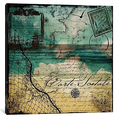 East Urban Home Ocean Clouds I Graphic Art on Wrapped Canvas; 18'' H x 18'' W x 1.5'' D