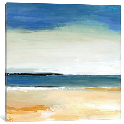 East Urban Home Seascape II Painting on Wrapped Canvas; 18'' H x 18'' W x 1.5'' D