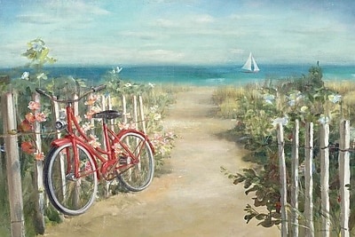 East Urban Home Summer Ride Crop Painting Print on Wrapped Canvas; 26'' H x 40'' W x 0.75'' D