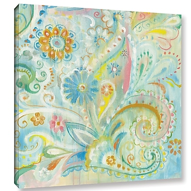 Bungalow Rose 'Spring Dream Paisley XIII' by Danhui Nai Painting Print on Wrapped Canvas