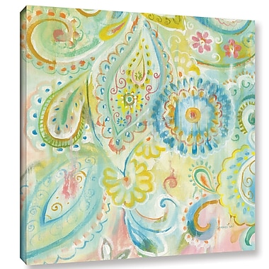 Bungalow Rose 'Spring Dream Paisley XII' by Danhui Nai Painting Print on Wrapped Canvas