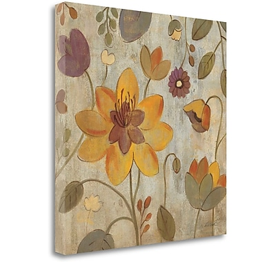 Tangletown Fine Art 'Floral Song II' Print on Canvas; 35'' H x 35'' W