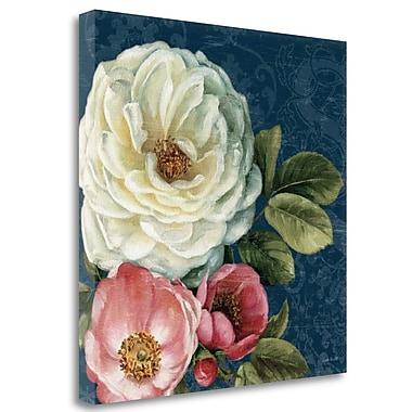 Tangletown Fine Art 'Floral Damask II on Indigo' Print on Canvas; 20'' H x 20'' W