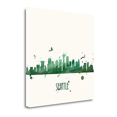 Tangletown Fine Art 'Super Green Seattle - Square' by Anna Quach Graphic Art on Wrapped Canvas