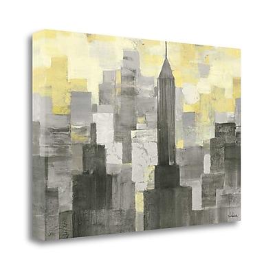 Tangletown Fine Art 'City Blocks Neutral' Print on Canvas; 20'' H x 29'' W