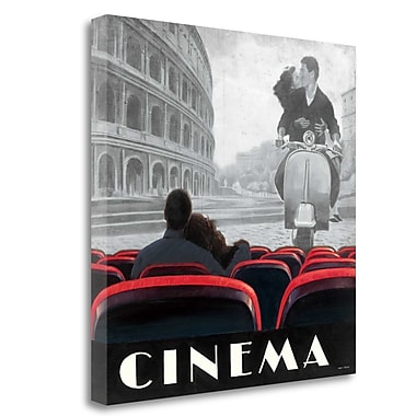 Tangletown Fine Art 'Cinema Roma' Vintage Advertisement on Canvas; 30'' H x 30'' W