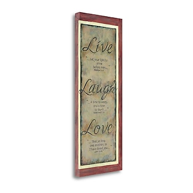Tangletown Fine Art Live Laugh Love' Textual Art on Canvas; 20'' H x 48'' W