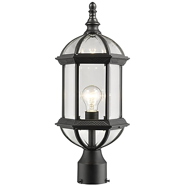 Alcott Hill Bunker Hill 1-Light Post Light; Black