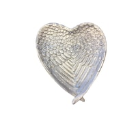 August Grove Resin Heart Decorative Plate; Silver