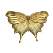 August Grove Resin Butterfly Decorative Plate; Gold