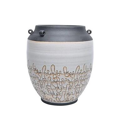 Bloomsbury Market 13'' Decorative Ceramic Table Vase; 13'' H x 11.5'' W x 11.5'' D