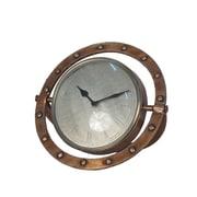 Breakwater Bay Metal Table Clock; 10'' H x 12'' W x 7.5'' D