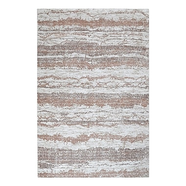 Bungalow Rose Clea Hand-Woven Brown Area Rug; 5' x 8'