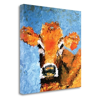 Tangletown Fine Art 'Cow' Print on Canvas; 25'' H x 25'' W