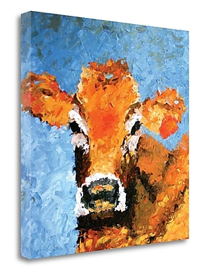 Tangletown Fine Art 'Cow' Print on Canvas; 20'' H x 20'' W