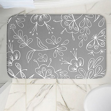 East Urban Home Floral Mix Memory Foam Bath Rug; 24'' W x 36'' L