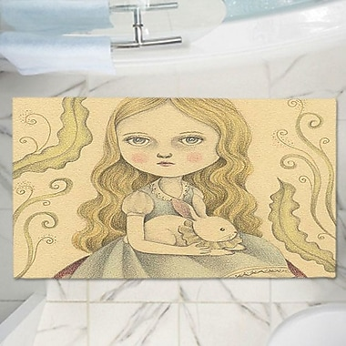 East Urban Home Amalia K.'s Alice Contemplating Memory Foam Bath Rug; 17'' W x 24'' L