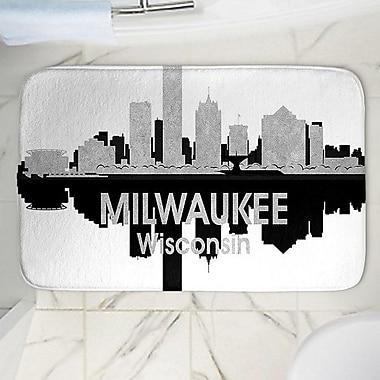 East Urban Home Angelina Vick's Milwaukee Memory Foam Bath Rug; 24'' W x 36'' L