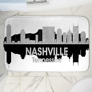 East Urban Home Angelina Vick's Nashville Memory Foam Bath Rug; 24'' W x 36'' L