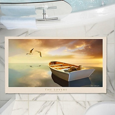 East Urban Home Carlos Casamayor's The Lovers Birds and Boats Memory Foam Bath Rug; 24'' W x 36'' L