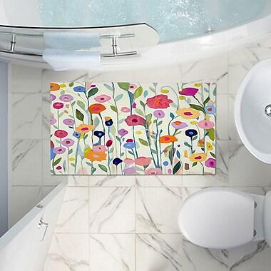 East Urban Home Flowers Memory Foam Bath Rug; 17'' W x 24'' L