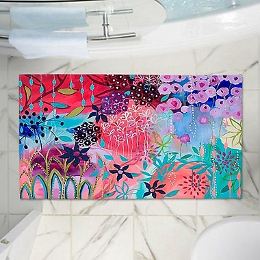 East Urban Home Garden Flowers Memory Foam Bath Rug; 17'' W x 24'' L